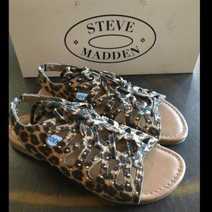 NEW Steve Madden Girls Leopard Sandals 2